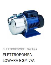 elettropompa lowara bgm 7/a