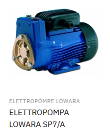 ELETTROPOMPA LOWARA SP7/A